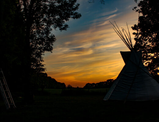 Tipi Sunset at Chanctonbury